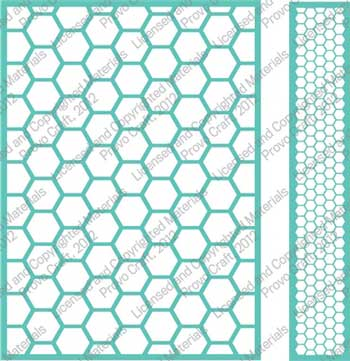 Cuttlebug 174 Honeycomb 5x7 Embossing Folder And Border Set