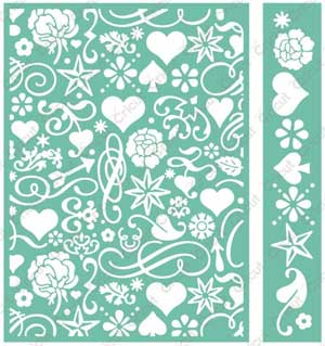 Cuttlebug 174 Anna Griffin 5x7 Smitten Embossing Folder And