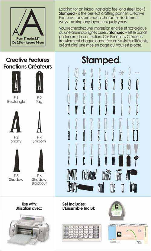 Stamped Cricut Machine Cartridge Buy Now