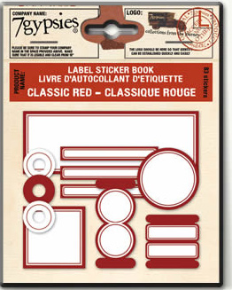 Classic Red Label Sticker Book From 7 Gypsies Buy Now