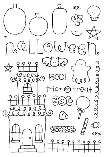 Halloween Clear Expressions Stamps From Doodlebug Designs