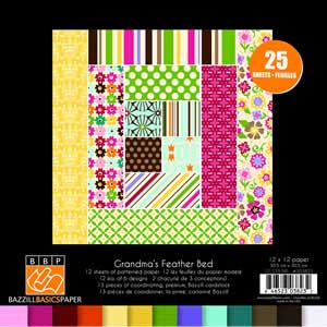 Grandma S Feather Bed 12x12 Paper Assortment Kit 25pk From