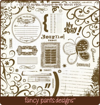 In My Words 12x12 Stamps From Fancy Pants Designs Buy Now
