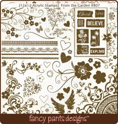 From The Garden 12x12 Stamps From Fancy Pants Buy Now