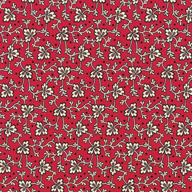 Red Black Line Clover Vine 12x12 Patterned Paper By