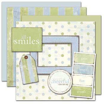 Wild Asparagus All Smiles Kit Free Elements 2 Sheets