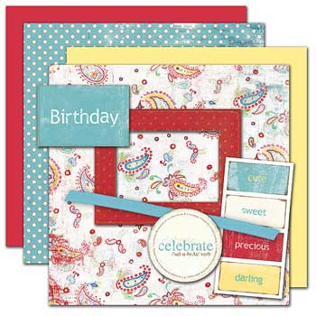 Wild Asparagus Birthday Kit 4 Sheets Paper Free Elements