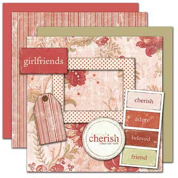 Wild Asparagus Girlfriends Kit 2 Sheets Paper Free