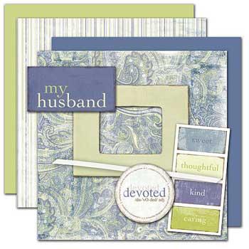 Wild Asparagus My Husband Kit 2 Sheets Paisley Paper Free