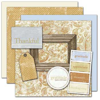Wild Asparagus Thankful Kit 4 Sheets Paper Free Elements
