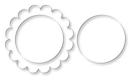 Scalloped Circle Frame 4 Quot 4pk By Page Frame Designs Buy Now
